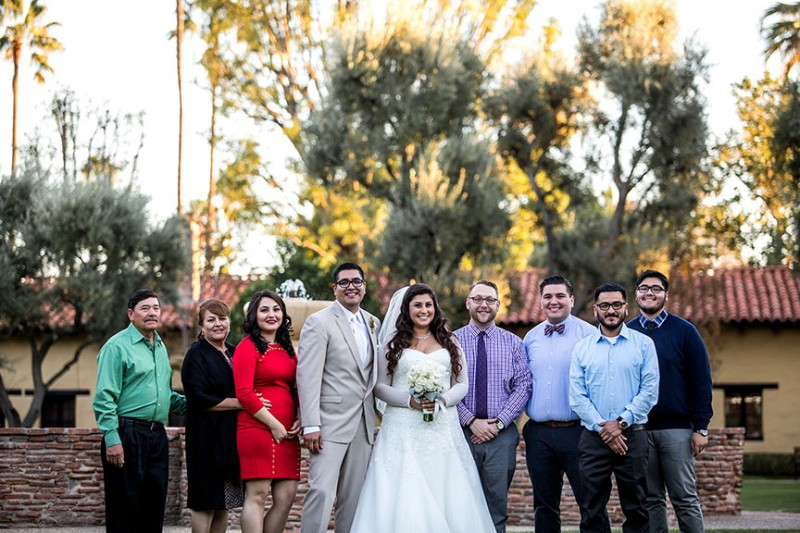 A family wedding on Brian's side in sunny California.