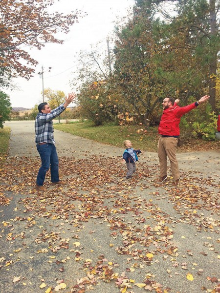 How fun to play in the leaves with our nephew Boden!