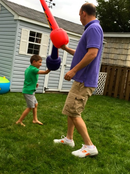 Backyard fun with Uncle Ch