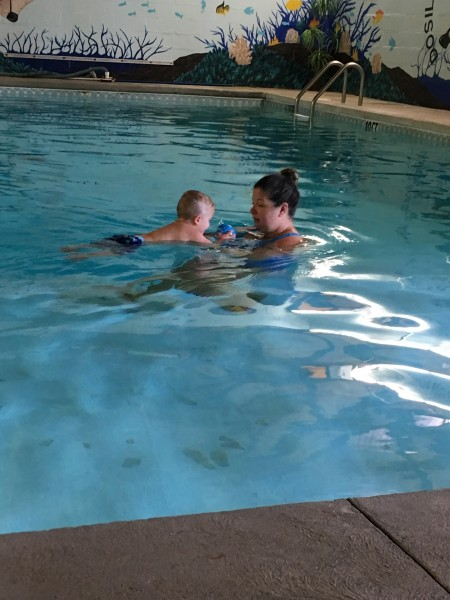 Friday morning swim class. Cole is doing awesome.