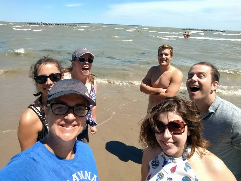 We went on a camping trip near a lake with some of our community group members from church!