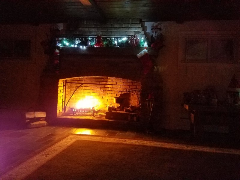 Welcoming in the Holiday Season with a warm fire
