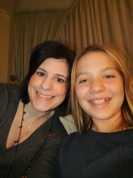 Selfie with my niece