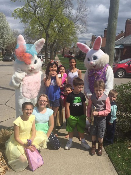 Easter Bunny visits every year