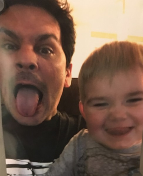 Rob and our besties son goofing off