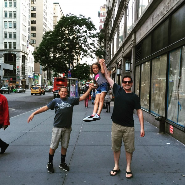 Leah and the kids in NYC!