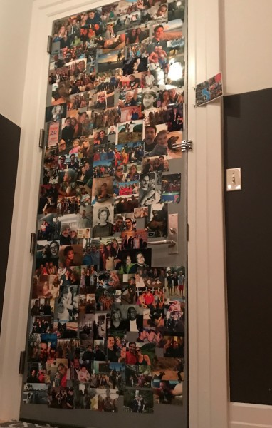 My wall of happy. What I see before I leave the house everyday :)