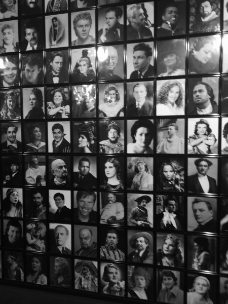 During intermission we explored the wall of previous opera performers at the Met.