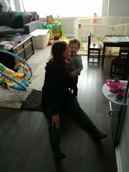 Ronie with our darling niece, Serena <3