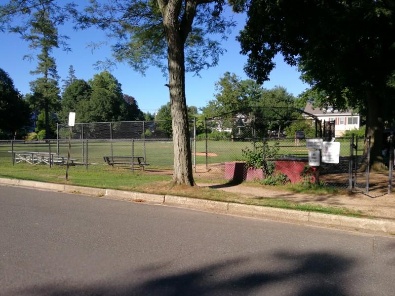 The school's baseball field.