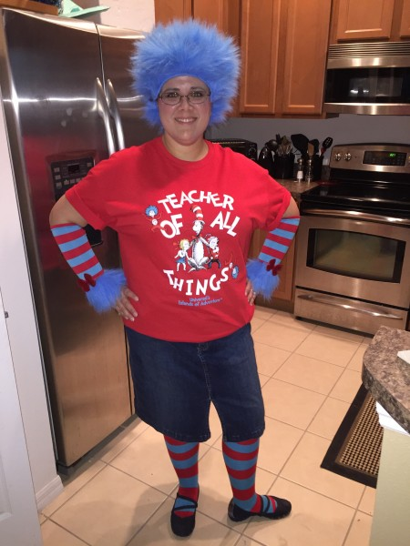 Rachael goes all out for Dr. Suess Day at school. She's an awesome teacher!