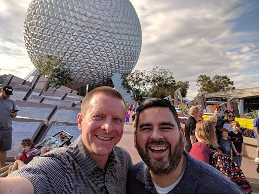Visiting Disney World in Andy's hometown of Orlando
