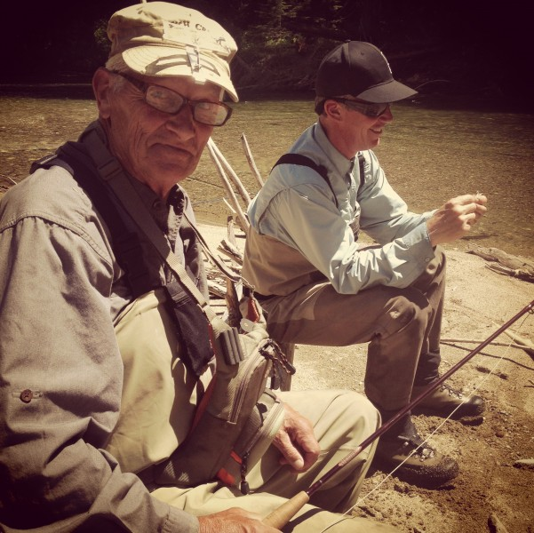 Christian's dad and brother when we're out fishing