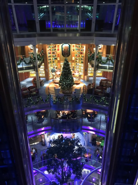 The cruise ship was decorated beautifully!