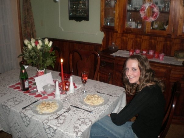 Me on the night Brett proposed. He made me a delicious meal, then took me to a park where he asked me to marry him. One of the best nights of my life.