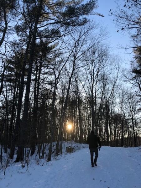 Hike at sunset