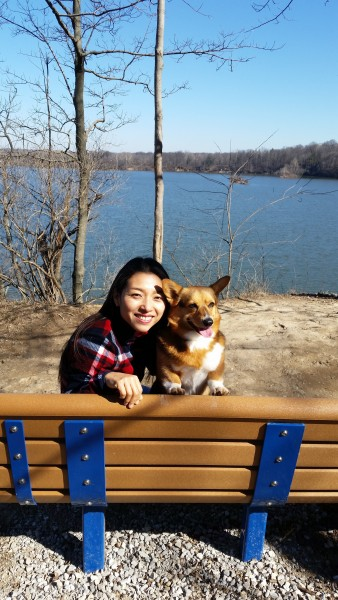 Aki and Pua at our favorite new spot, Eagle Creek Park