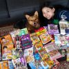 Aki's sister sent lots of treats from Japan!