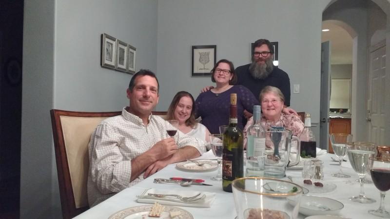 Rachel's family, Passover Seder 2018