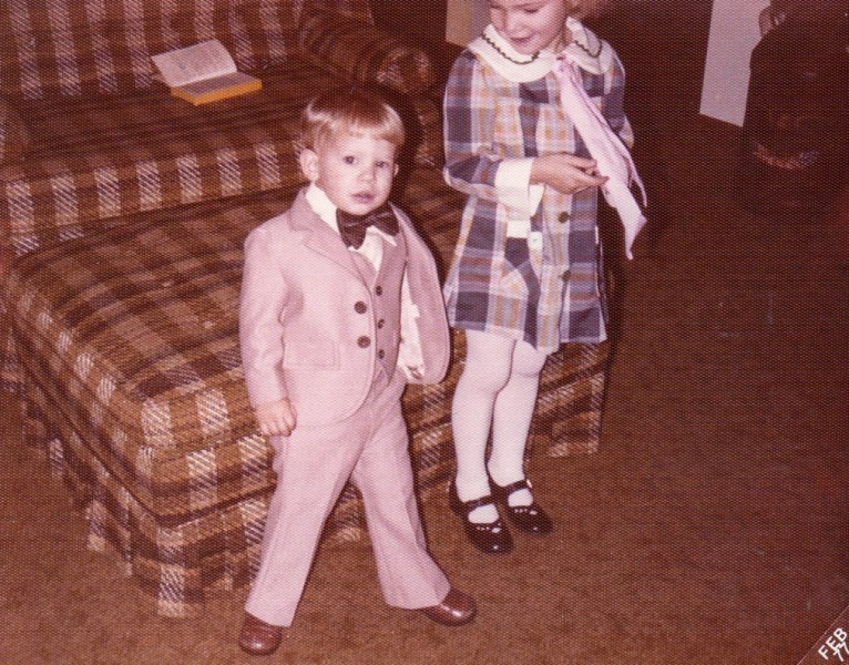 Thom and his sister, Heather, all dressed up