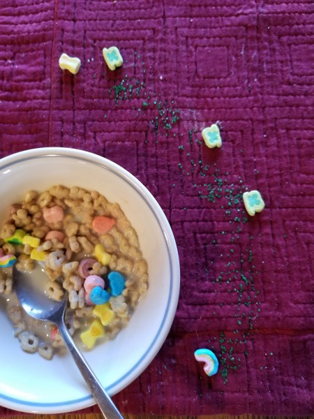 Sneaky leprechaun had some fun with Tristan's special breakfast