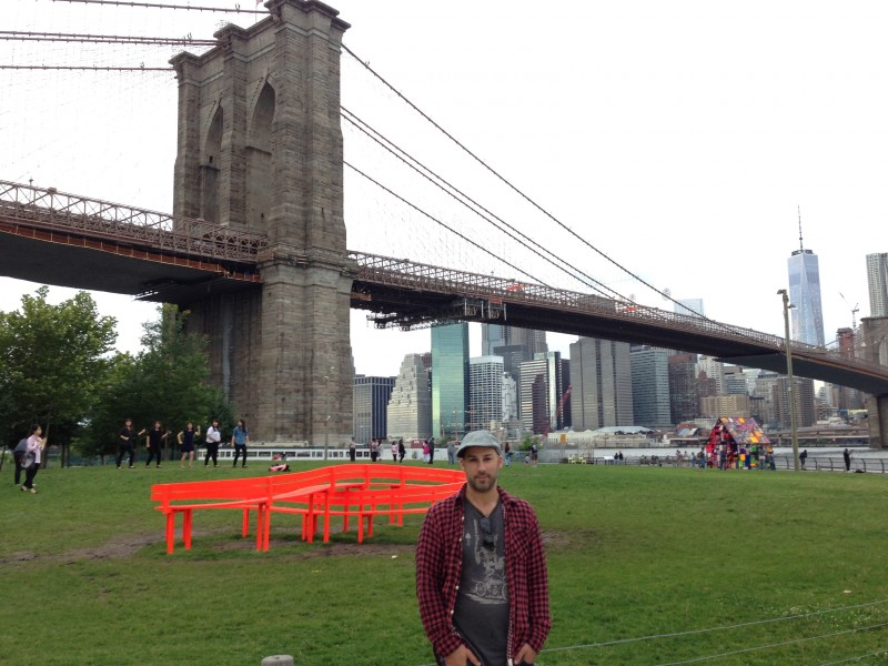 One of our favorite NYC spots for a picnic- Brooklyn Bridge Park