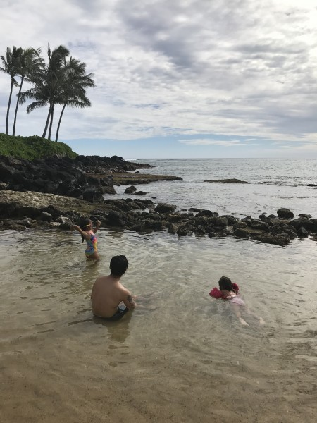 Beach day in Kaua'i with the girls.