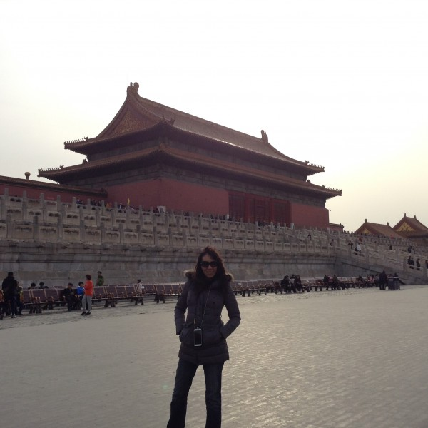 In China at the forbidden city