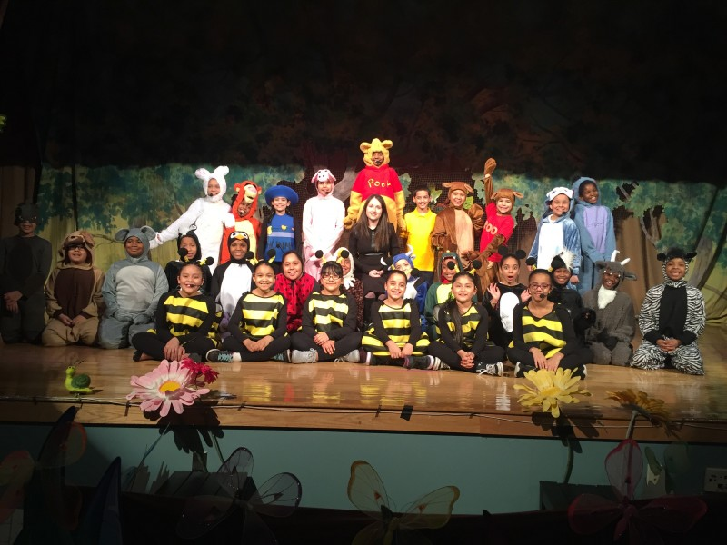 Me with Winnie The Pooh Student Cast