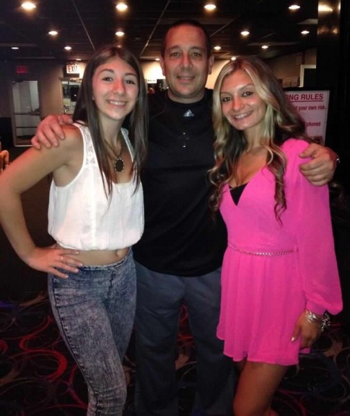 Anthony and his daughters