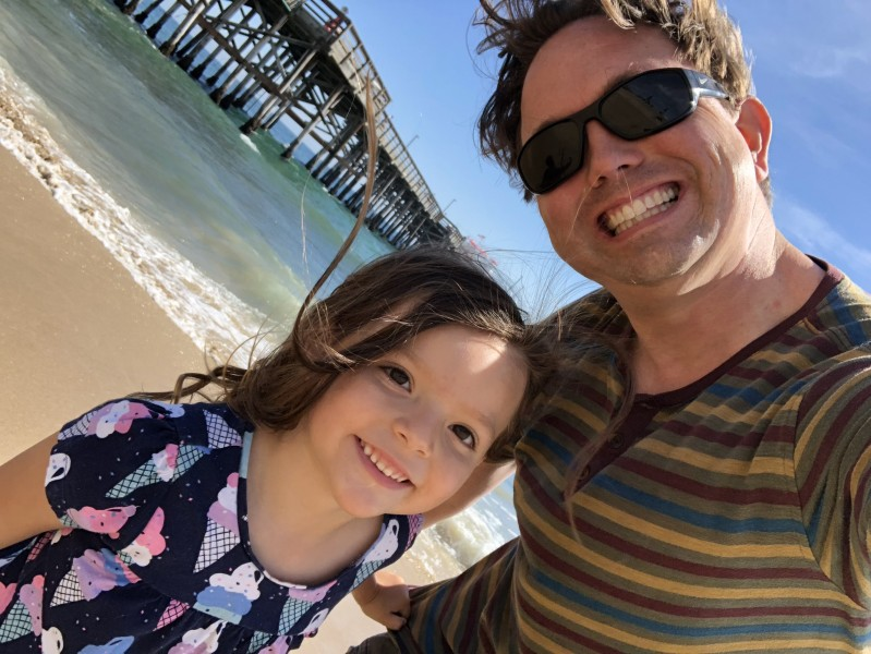 Daddy and daughter beach day!