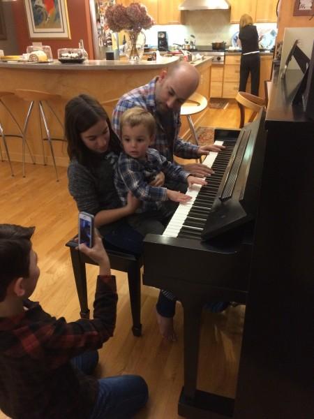 Teaching baby jake to play piano- thanksgiving