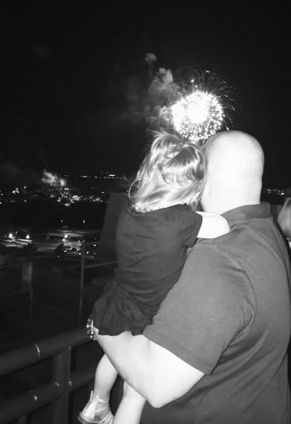 Disney World watching fireworks