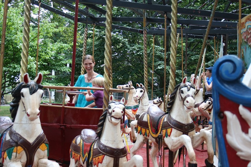 Antique carousel on Governor's Island