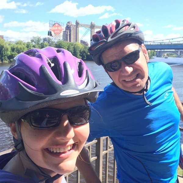 Biking around the twin cities (we might have gotten a bit lost)