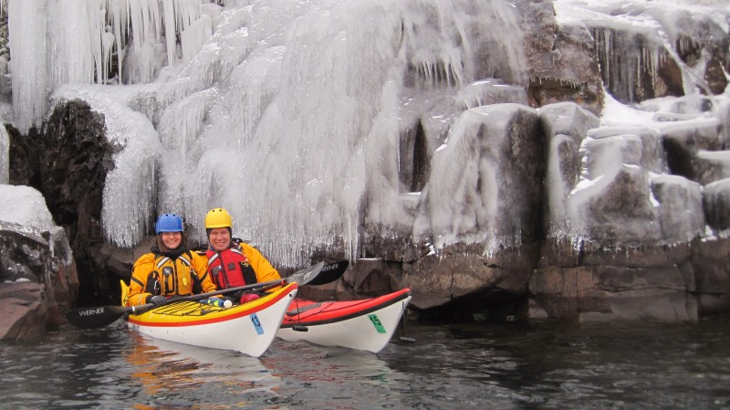 Who says paddling is just for when it is warm out?