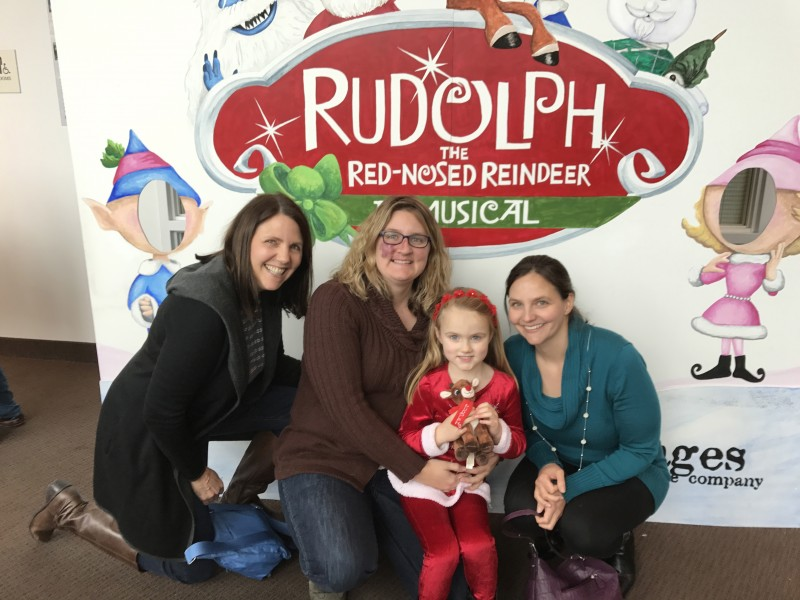 Katie's mom, niece, and sister-in-law taking on a Christmas Show
