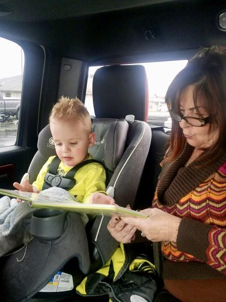 Grandma reading to beau