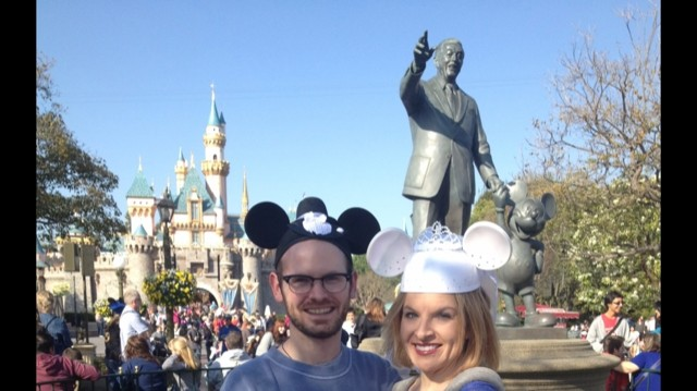 Our Mickey and Minnie ears!