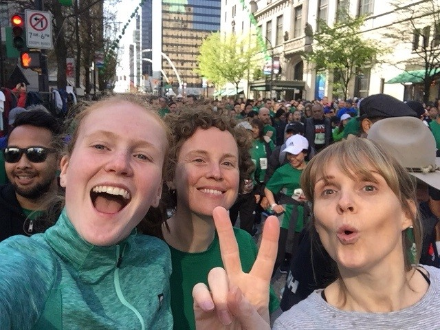 Lizzie, her sister and niece run the 10 K 'Vancouver Sun Run' every year, and this year's time was a personal best!