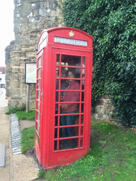 just being silly! Phone booth on vacation in England