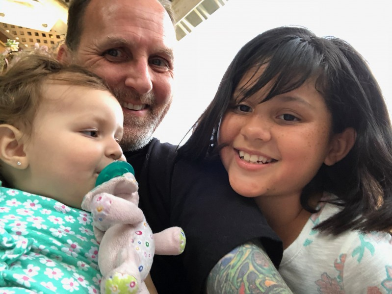 Papa, Bella, and Cousin Jessie