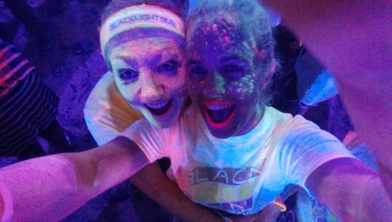 Black Light Run with Kelly
