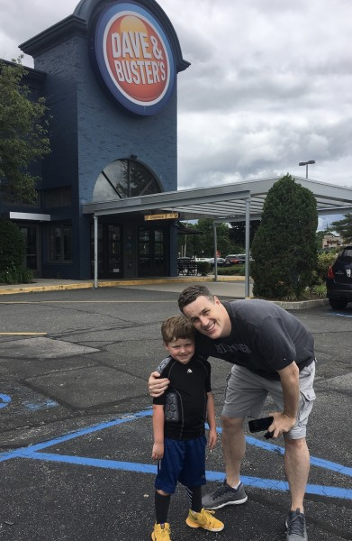 Taking our nephew to Dave & Buster's