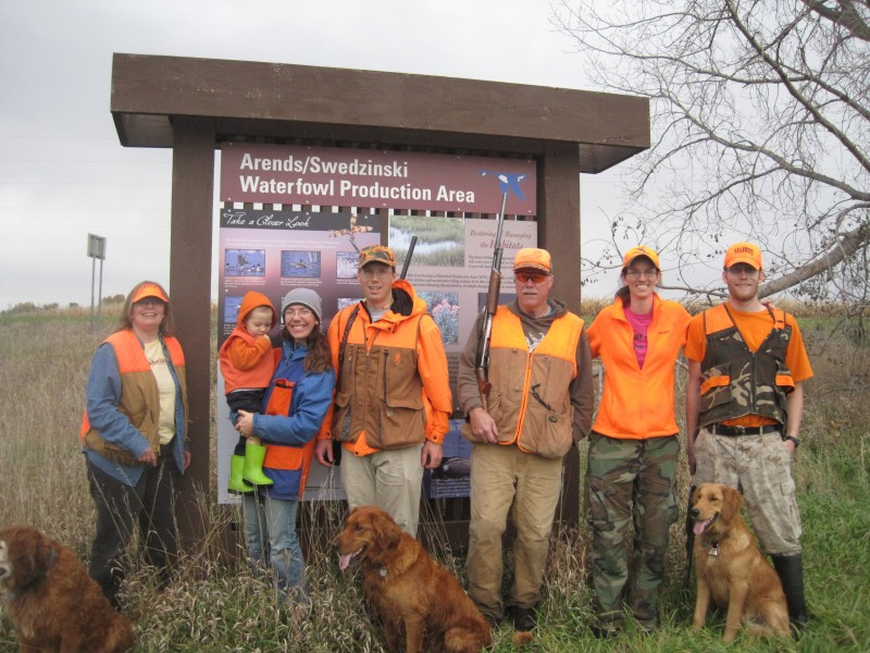 Pheasant Hunting with Andrew's Family October 2017