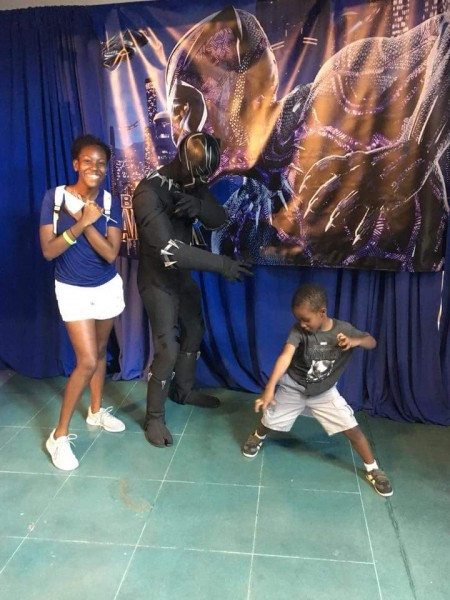 Future Black Panther in training.