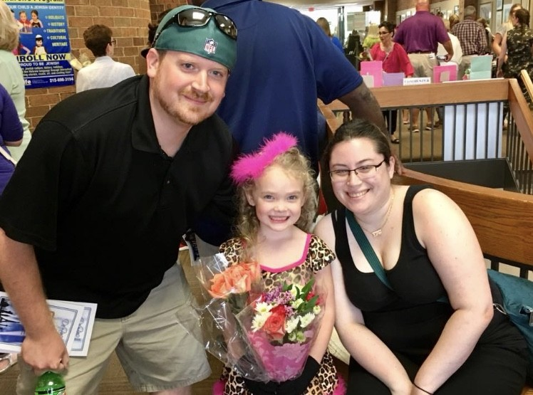 At our nieces dance recital.