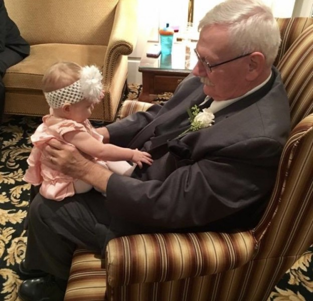 Andrew's dad and niece at our wedding. This picture is so special.