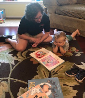 Erin's mom & nephew reading. She used to be a teacher.