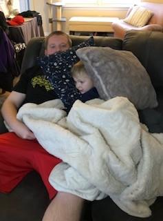 Andrew & Evan cuddle time :)